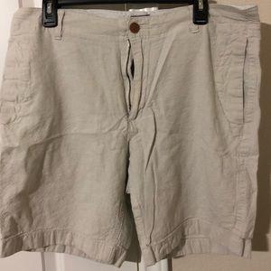 Men's Cotton Linen J. Crew Shorts - off white 35W